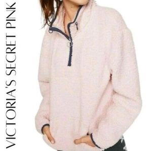 VS PINK Sherpa Pullover • Pink